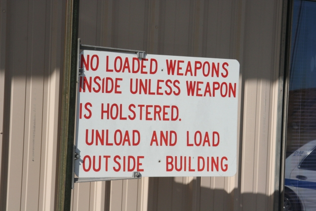 No Loaded Weapons