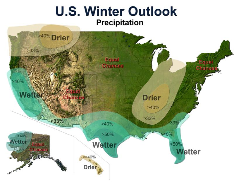 Noaa precip map winter 09