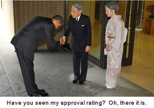 Obama finds approval rating on the floor