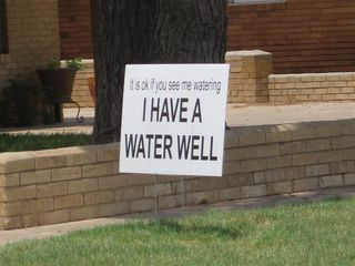 I have a water well