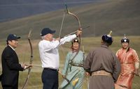 Joe-biden-shot-an-arrow