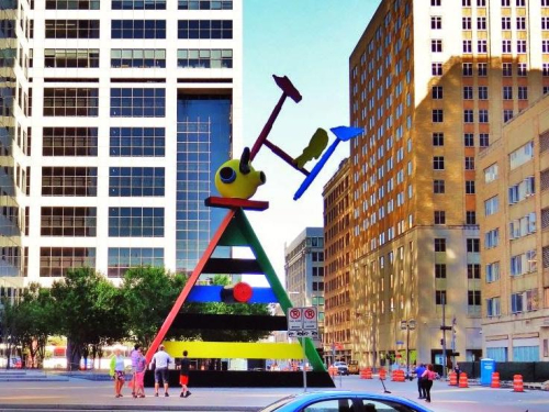 Chase Tower art by Miro in the Plaza April 2014 cropped