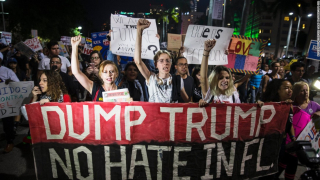 Rioters against hate