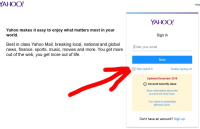 Yahoo screen shot login1